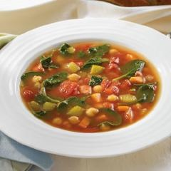 Spanish Chick Pea Soup with Spinach and Chorizo