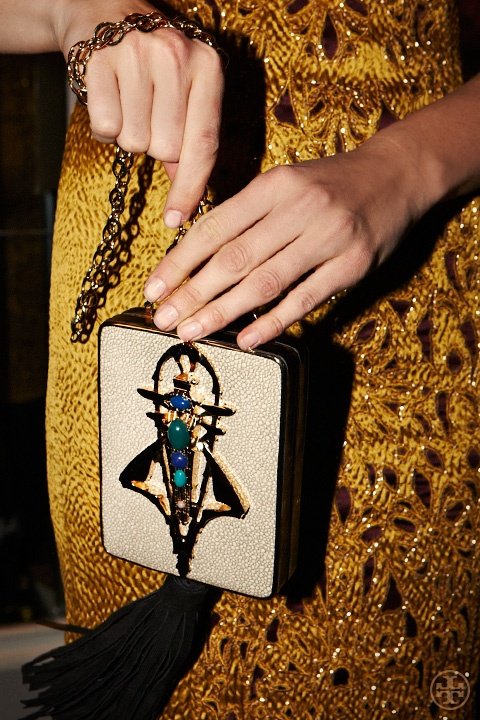 Backstage at Tory Burch Fall 2013