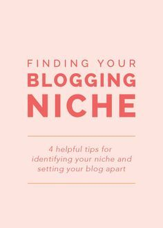 Finding Your Blogging Niche: 4 helpful tips for identifying your niche and setting your blog apart  Elle & Co.