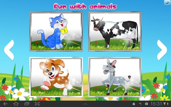 On iToddler fun with animals. New learning concept for kids.