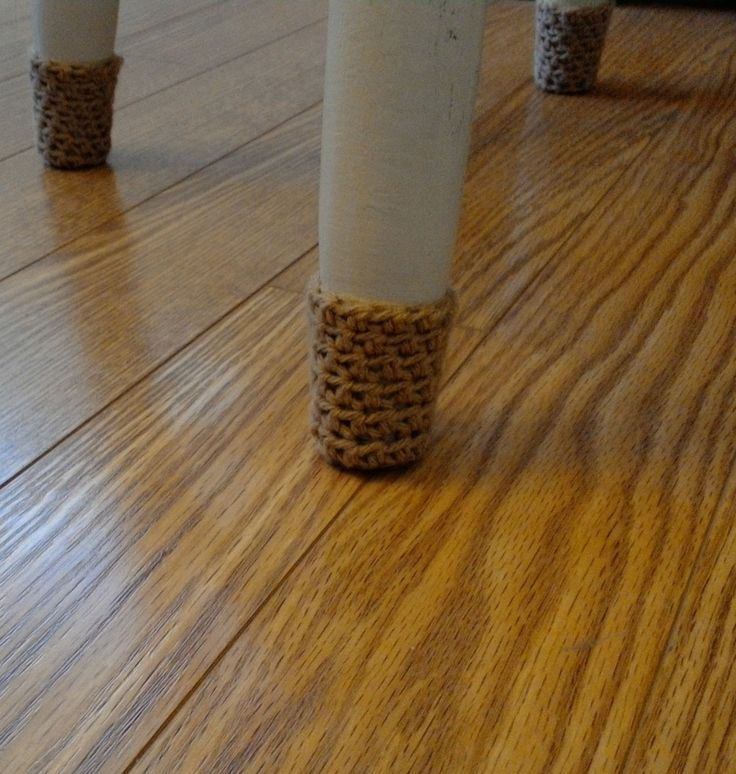 Extra tall golden brown crochet chair socks, chair booties. by BallAndHook on Etsy