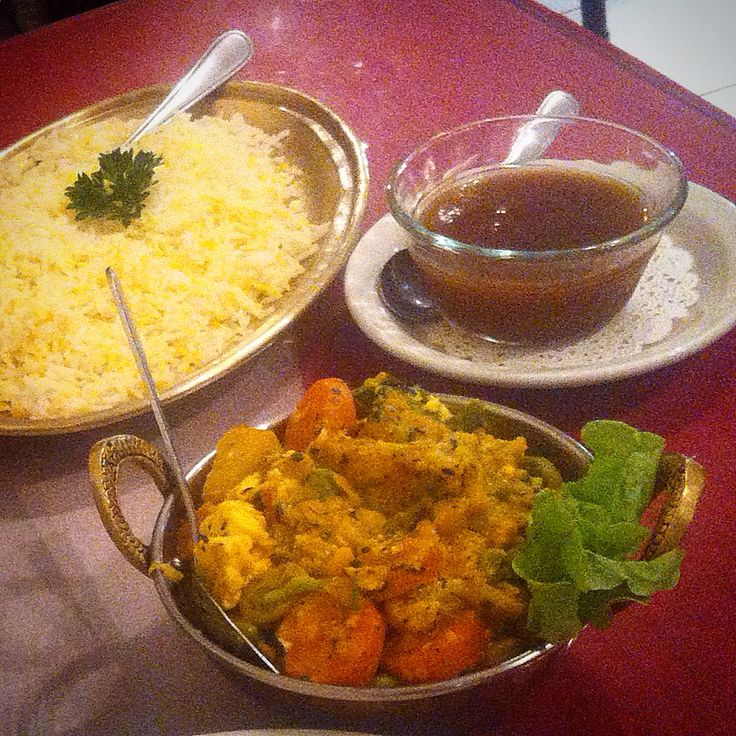 Sajib Dahl with basmati rice at Hello India
