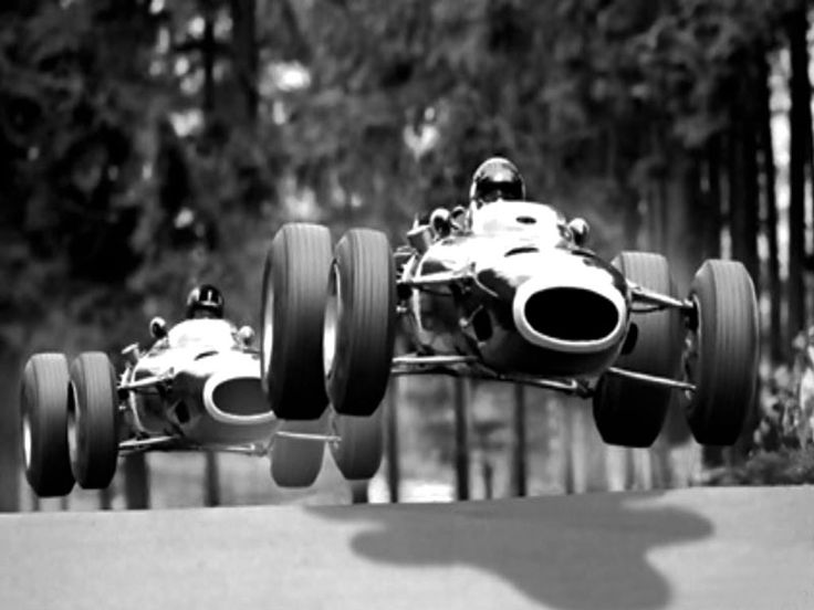 Jackie Stewart And Graham Hill At Nurburgring In 1965
