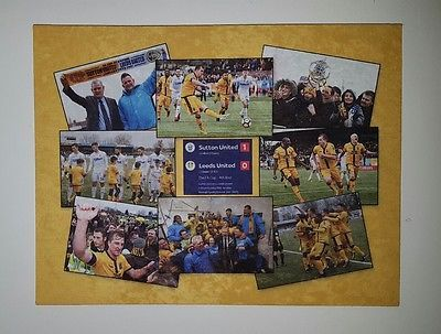 Sutton United v Leeds United Wall Canvas. FA Cup  4th round 2017.