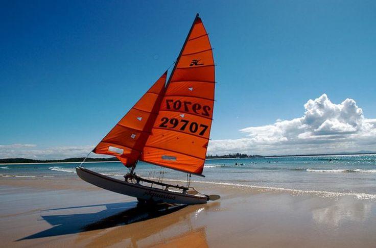 Our Hobie 16 at Trial Bay Beach, South West Rocks