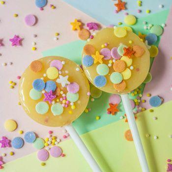 Five Birthday Cake Celebration Lollipops