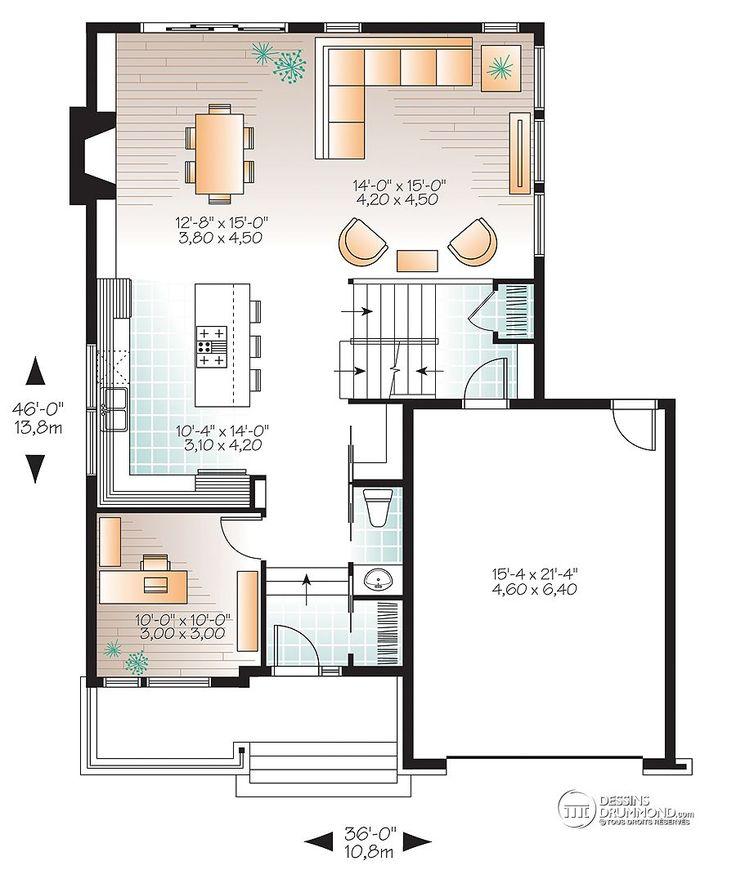 Détail du plan de Maison unifamiliale W3456-V1