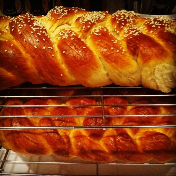 home made challah bread. It looks like I could even try this recipe.