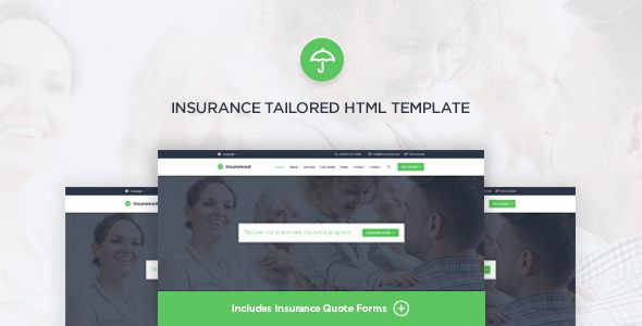 Insuranced - Insurance HTML Template - Business Corporate