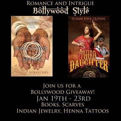 ***WIN*** Paperback of Third Daughter (The Dharian Affairs #1) The Dharian Affairs Trilogy in Ebook 2 Paperback copies of A Bollywood Affair Handwoven Pashmina shawl from India Sticker Henna Tattoos Indian bangles (bracelets) (all physical prizes are US ONLY; ebook is INTERNATIONAL)