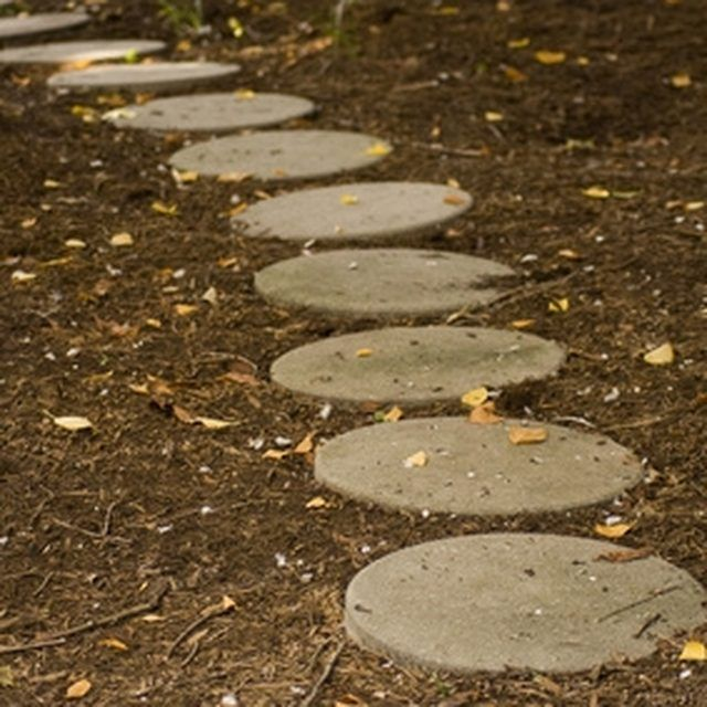 Stepping stones are a natural way to create a path to your front door.