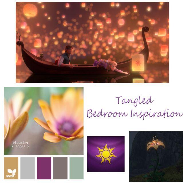 Tangled inspired bedroom