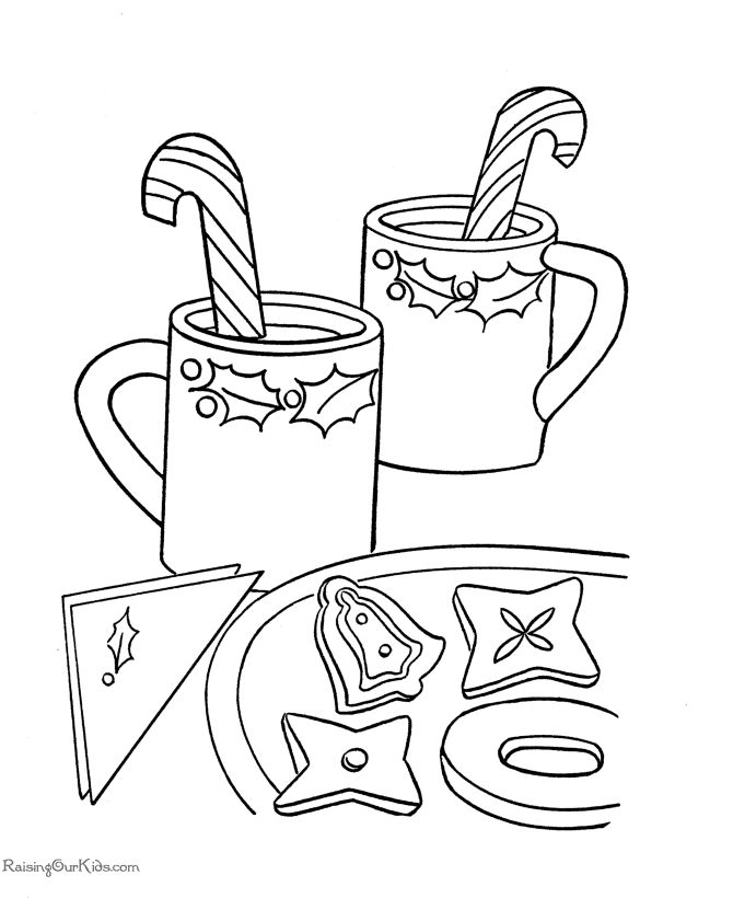 Christmas Candy Coloring Sheets Coloring Pages