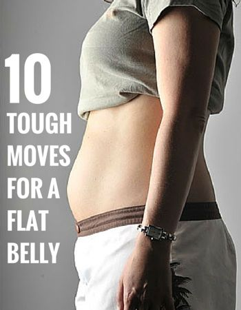 10 TOUGH MOVES FOR A FLAT BELLY