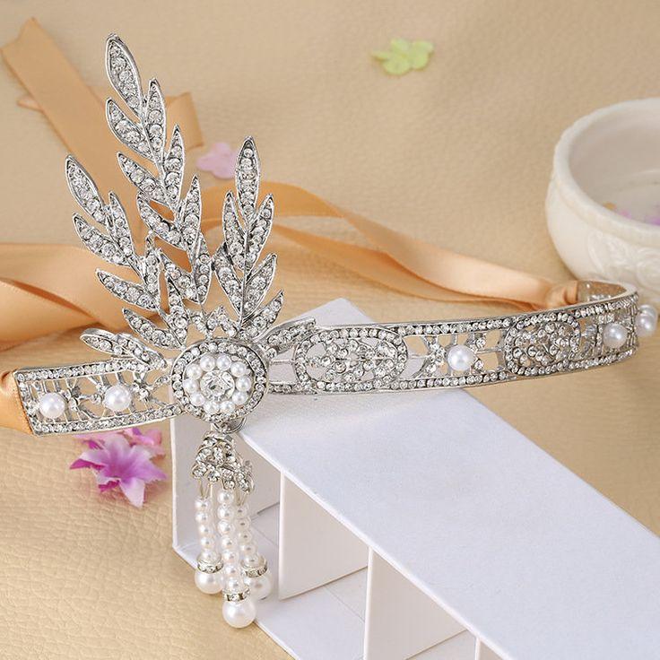 Wedding Party Headband Bracelet Ring Set Flapper Hair Accessories Great Gatsby Headpiece