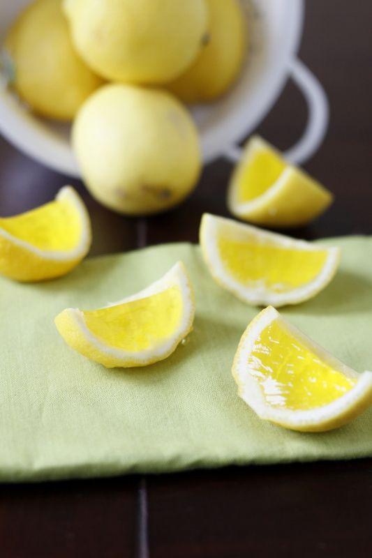 Lemon Drop Jello Shots by Bellaliemento via babble.com: Lemon drops with a kick! #Lemon_Drop_Jello_Shots #Bellaliemento #babble
