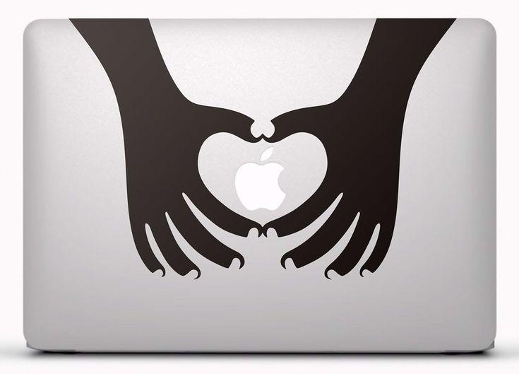 Pegatinas: Silueta manos corazón 2 #vinilosportatil #pegatinasmac #vinilosmacbook #teleadhesivo