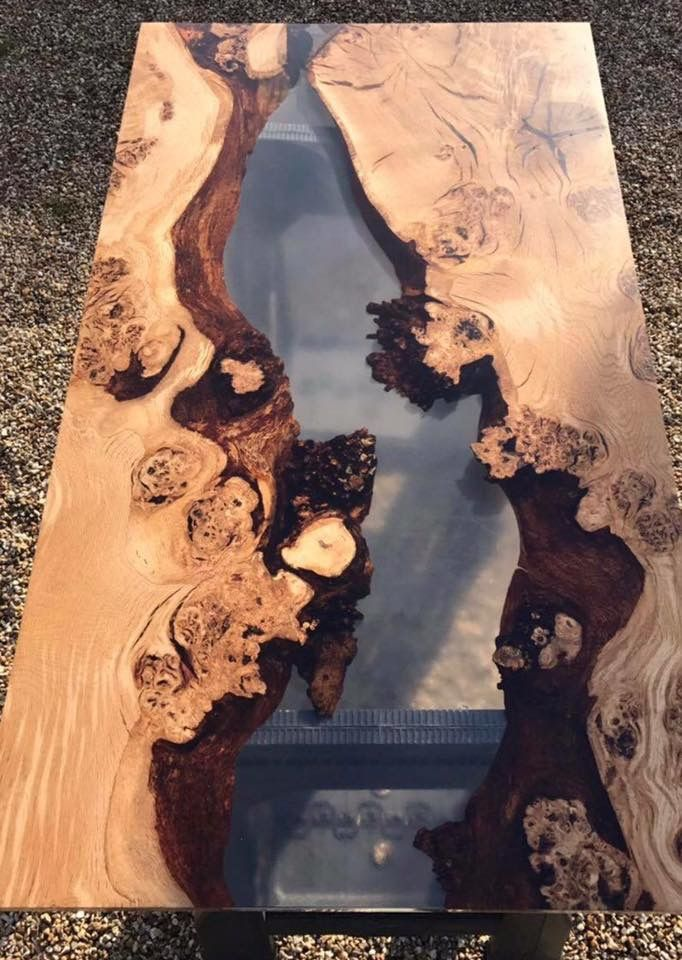 Wood and epoxy resin table | Projects | Epoxy resin table, Wood