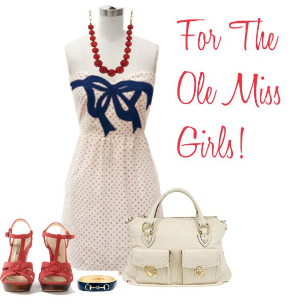 Ole Miss Game Day, created by msamandacall on Polyvore