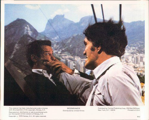 MOONRAKER ORIGINAL U.S. 8X10 LOBBY CARD JAMES BOND ROGER MOORE RICHARD KIEL RARE @ niftywarehouse.com #NiftyWarehouse #Bond #JamesBond #Movies #Books #Spy #SecretAgent #007