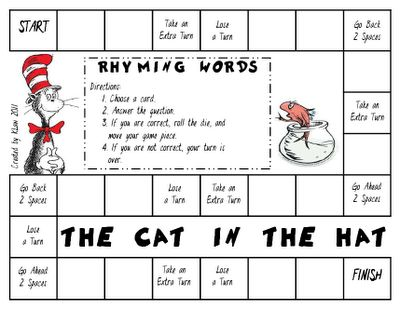 Free Game!  The Cat in the Hat Rhyming Words!