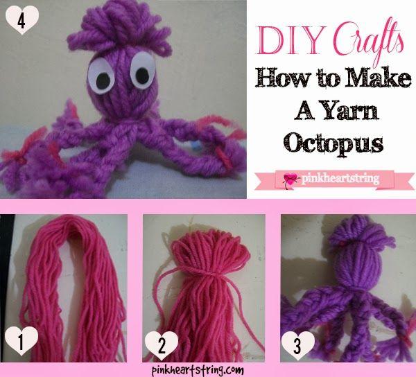 yarn octopus via Pink Heart String. #MommyMondayBlogHop