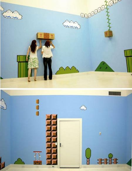 mario brothers bedroom decor | Super Mario Room Slinks: n. (slingks) Surreptitious web links to other ...