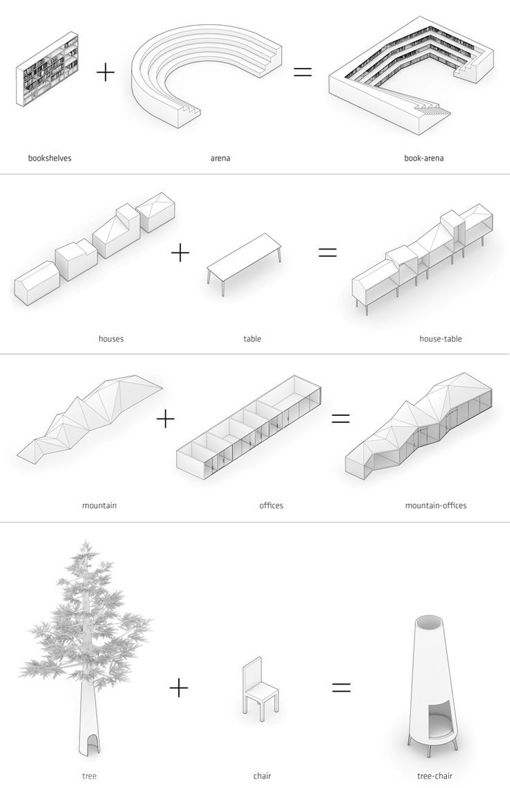 Hybrid Office Diagrams by Edward Ogosta Architecture.