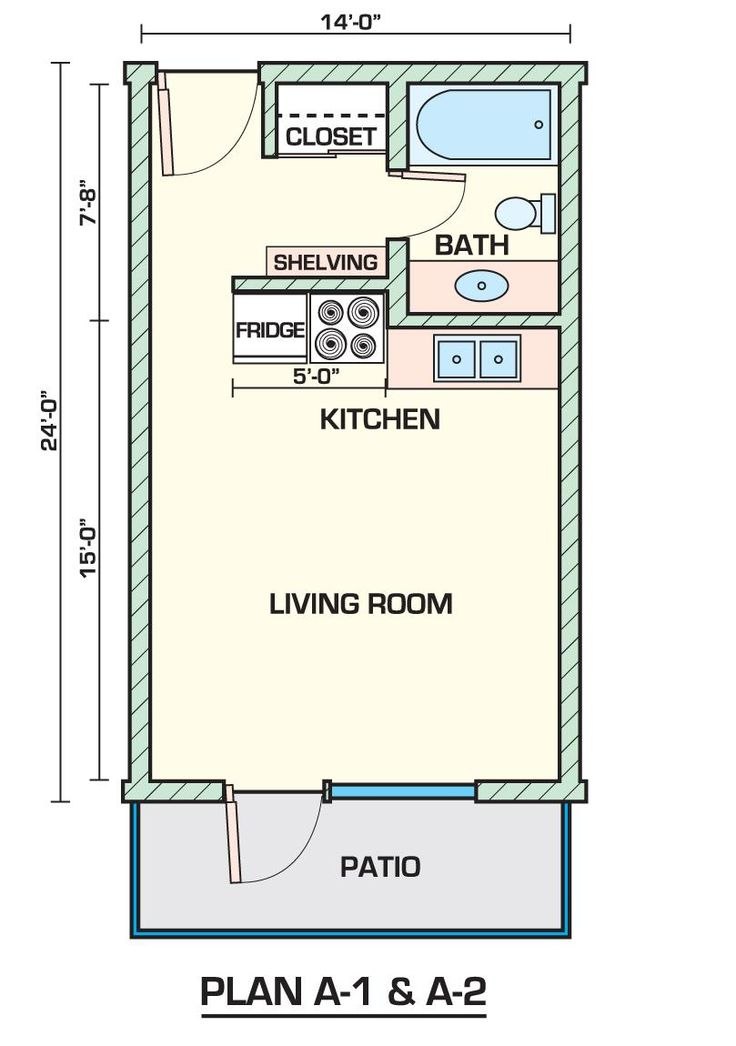 Bunkie   Studio floor plans, Small apartment layout plan ...