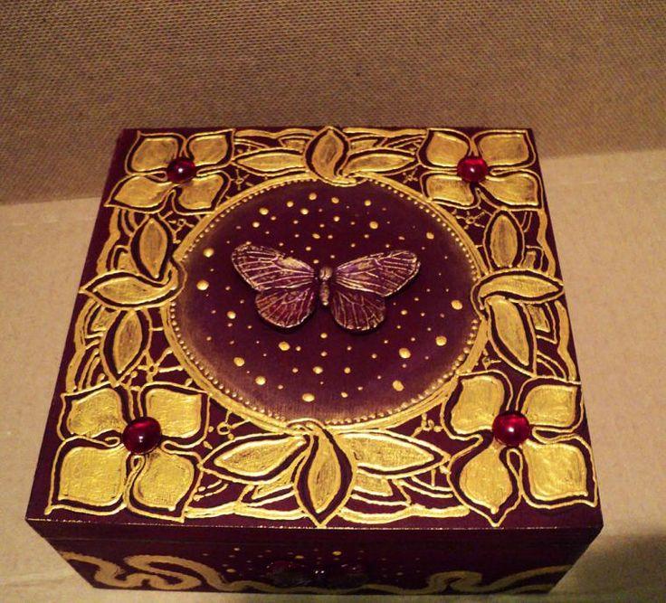 """Шкатулка """"Королевская бабочка"""" - авторский МК Натальи Полех! - Ярмарка Мастеров - ручная работа, handmade"""