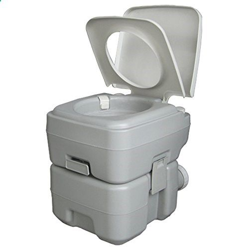 Portable Camping Toilet Recreation Flush Potty Commode Sanitation Supply for Outdoor Indoor Caravan Boats Travel Hiking 1020T 20L -- To view further for this item, visit the image link. (Note:Amazon affiliate link)