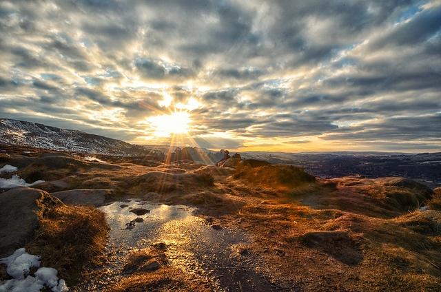 Sunset on Ilkley Moor, West Yorkshire