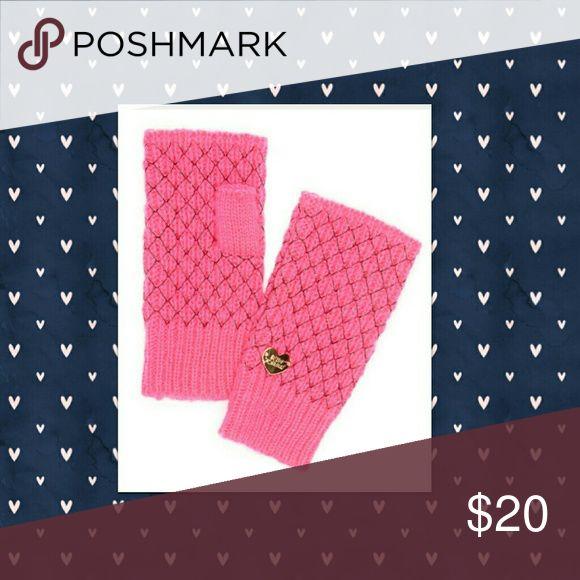 Coming Soon! Betsey Johnson Fingerless Gloves So cute!  Pink net worth fingerless gloves by Betsey Johnson. Betsey Johnson Accessories