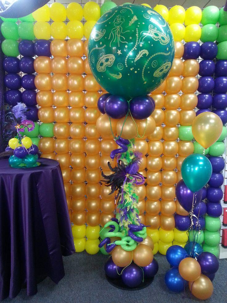 Best mardi gras balloons decor images on pinterest