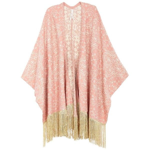 Melissa Mccarthy Seven7 Plus Tapestry Fringe Poncho ($90) ❤ liked on Polyvore featuring plus size women's fashion, plus size clothing, plus size outerwear, jackets, cardigans, outerwear, kimono, sweaters, plus size and orange