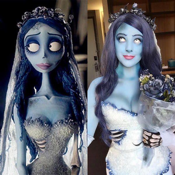 DIY Corpse Bride Emily Halloween Costume Idea