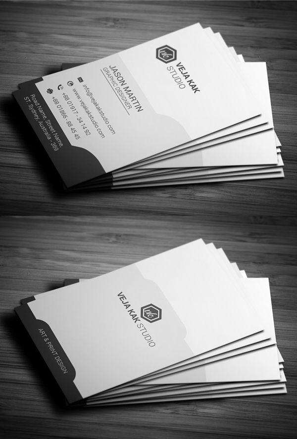 Sleek Vertical Business Card