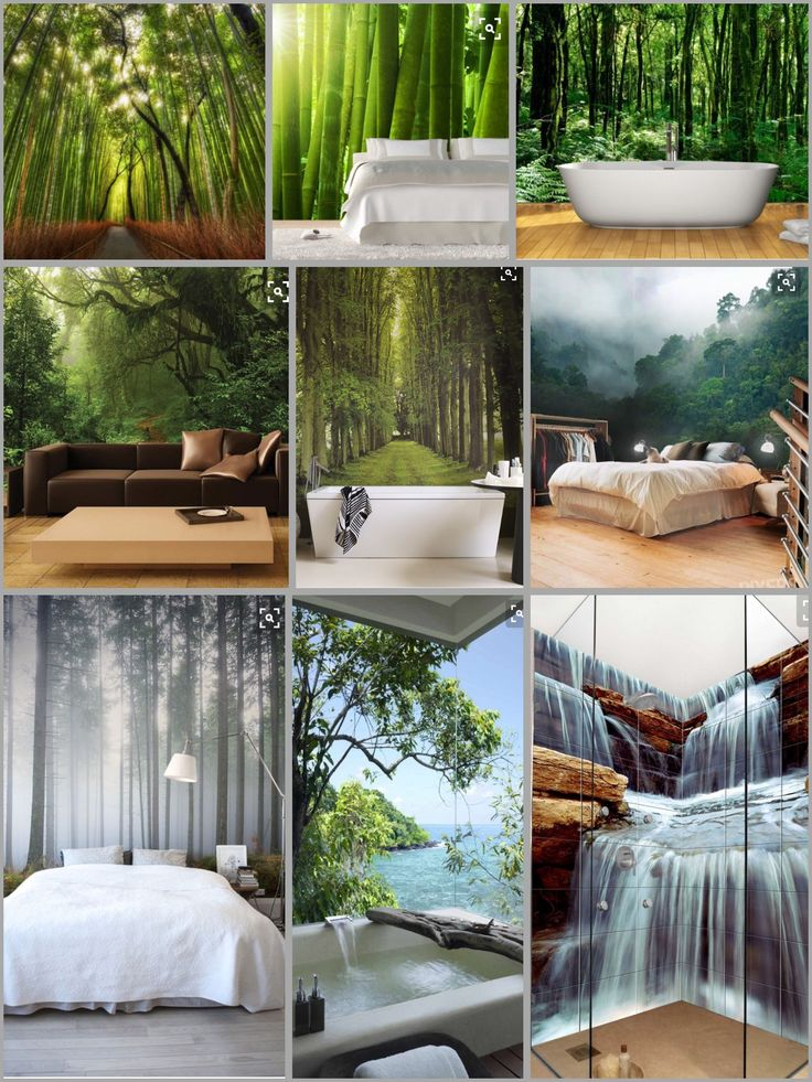17 best ideas about bamboo wallpaper on pinterest for Forest bathroom ideas