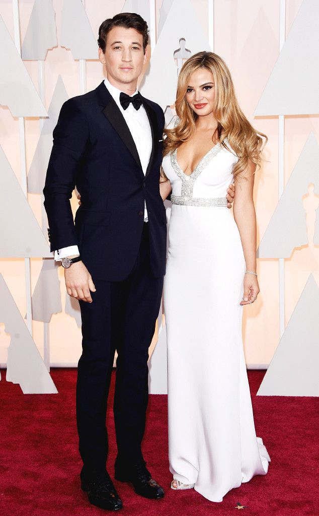 Miles Teller Grabs Everyone's Attention When He Brings Beautiful Girlfriend Keleigh Sperry to the Oscars | E! Online Mobile