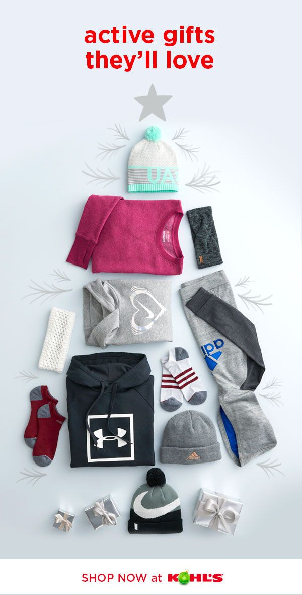 cc960d0914b44 Find all the best active gifts at Kohl s. Get cold-weather gear for the  family from favorite brands like Under Armour