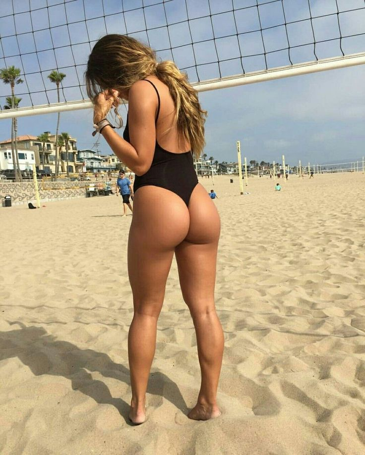 Volley Ball Babe In A One Piece Costume