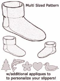 FLEECE SLIPPERS PATTERNS - Lena Patterns - FLOW PATTERN