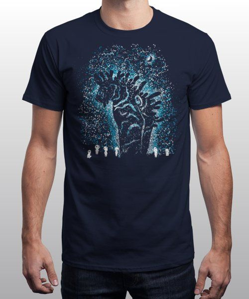 """Spirits in the Night"" is today's £8/€10/$12 tee for 24 hours only on www.Qwertee.com Pin this for a chance to win a FREE TEE this weekend. Follow us on pinterest.com/qwertee for a second! Thanks:)"