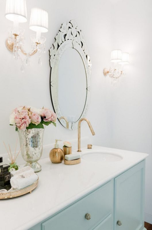 Love the wall lamps! -- Home Tour: pretty in pink by Ana Antunes — The Decorista