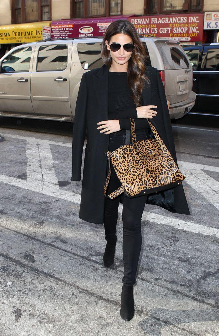 El ángel de Victoria Secret, Lilly Aldridge opta por un total look en negro