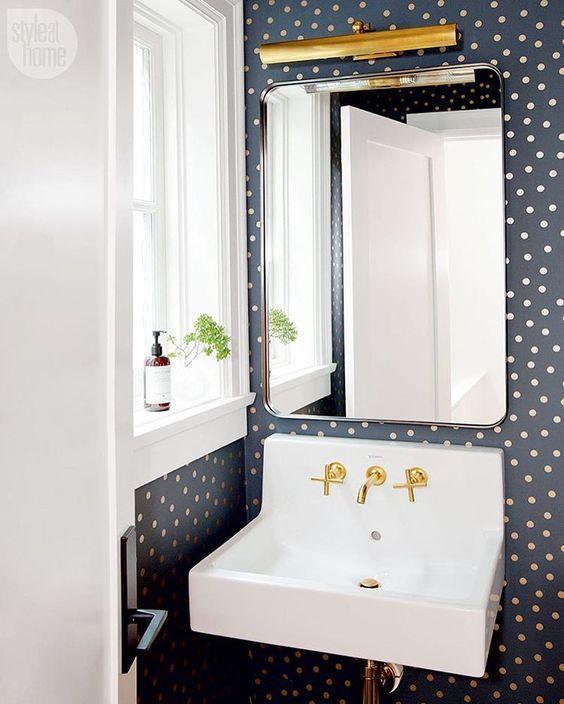 Guest 1 2 Bathroom Ideas: 25+ Best Ideas About Gold Polka Dot Wallpaper On Pinterest