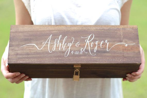 Custom Wedding Wine Box Ceremony Wine by MulberryMarketDesign