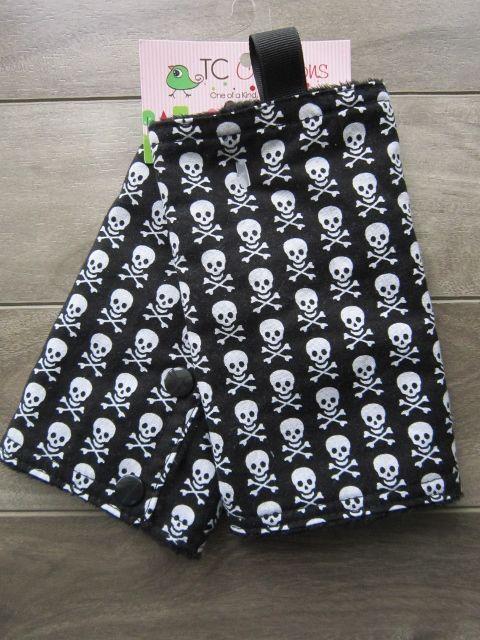 Ergo Carrier Covers -Skulls on Black Minky