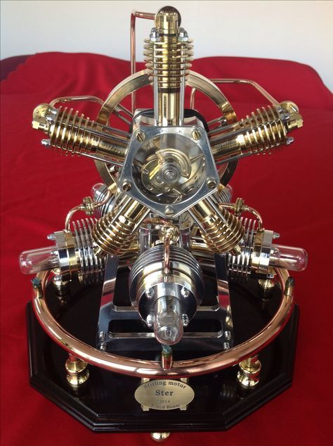 Radial stirling engine finished operating model