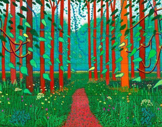 David Hockney - The Arrival of Spring in Woldgate, East Yorkshire 2011